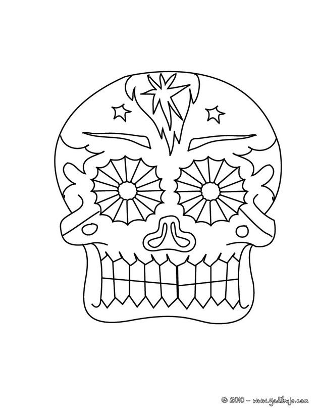Calaveras Del Día De Muertos Para Pintar Colorear Imágenes