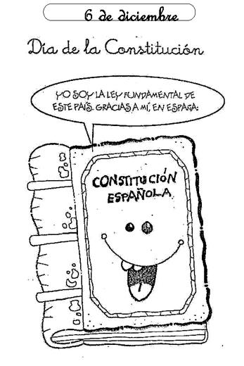 Día de la Constitución Española para pintar | Colorear imágenes