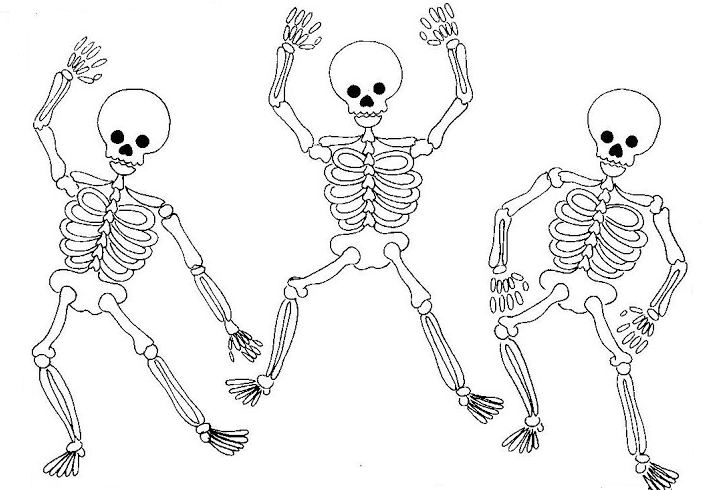 Dibujos de esqueletos humanos para pintar | Colorear imágenes