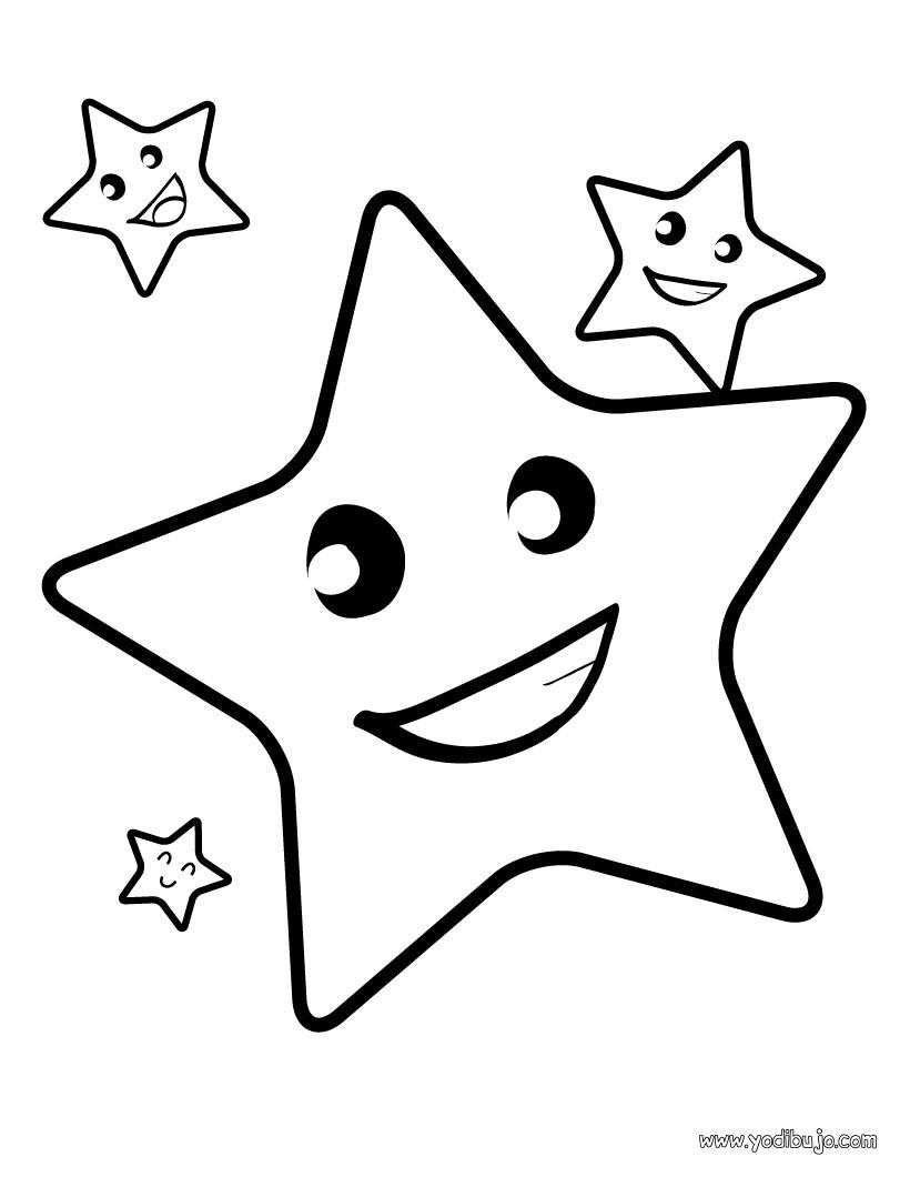 Dibujos de estrellas de Navidad para pintar: Cometas | Colorear imágenes