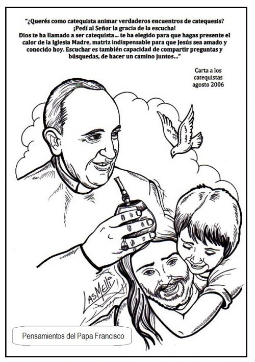 Frases E Imágenes Del Papa Francisco Para Pintar Colorear