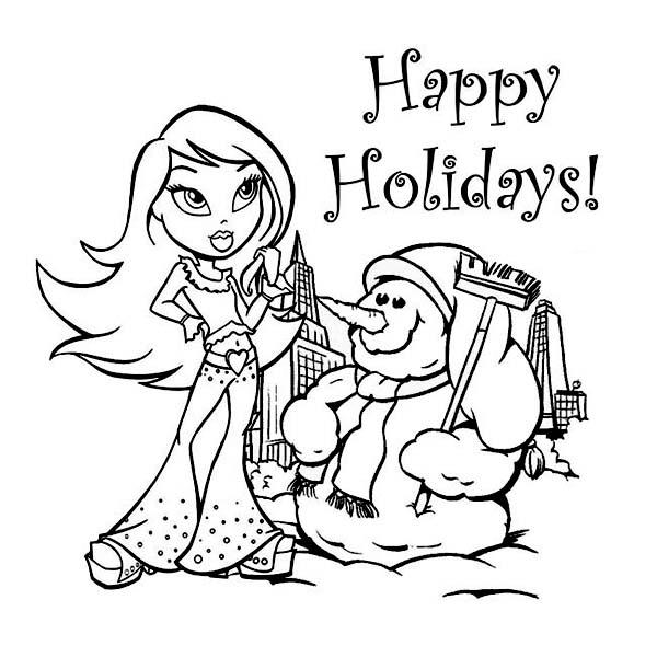 Dibujos De Happy Holidays Para Colorear Colorear Im 225 Genes