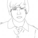 Dibujos de Justin Bieber para pintar