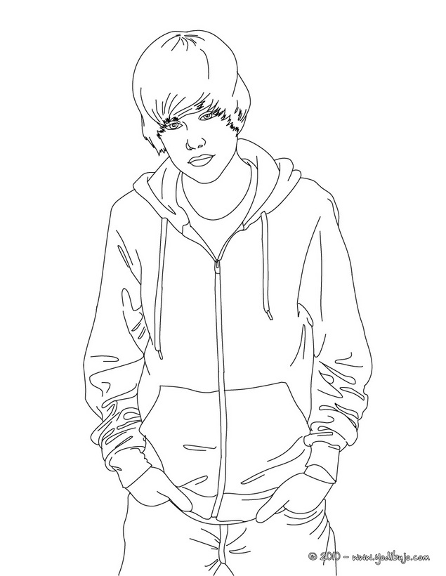 Dibujos de Justin Bieber para pintar | Colorear imágenes