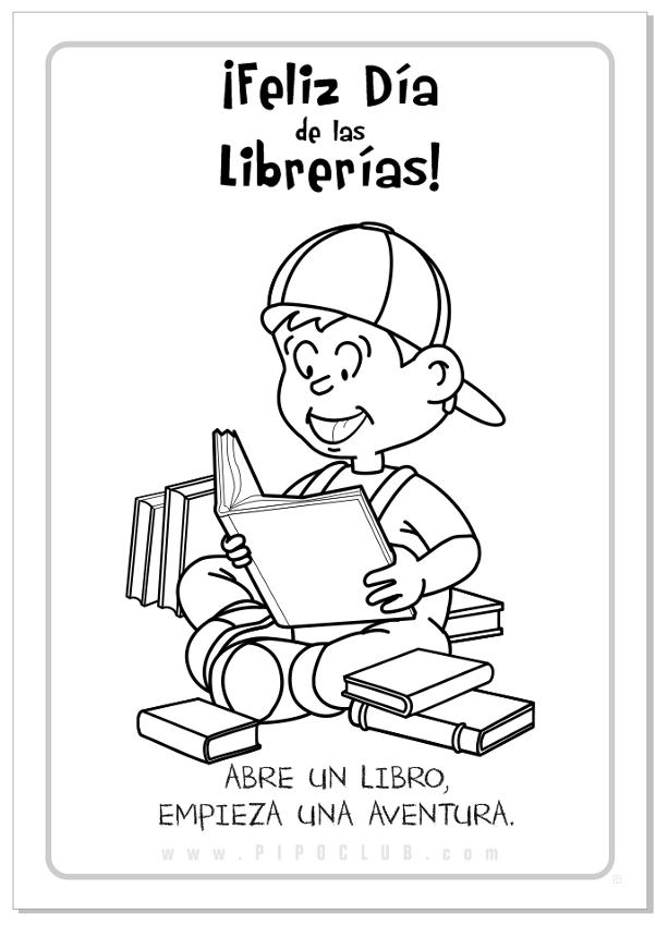 Día de las Librerías para pintar | Colorear imágenes