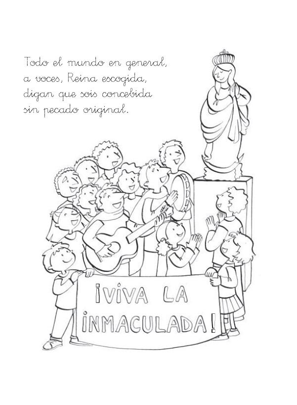 Día de la Inmaculada Concepción de María – Para colorear | Colorear ...