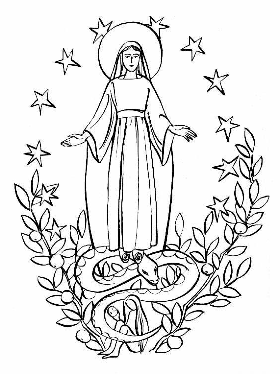 Imagenes De San Judas Tadeo Para Colorear >> Día de la Inmaculada Concepción de María – Para colorear | Colorear imágenes