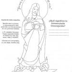 La Inmaculada Concepción de María para colorear