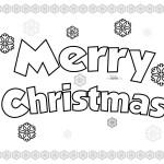 Carteles Merry Christmas para pintar