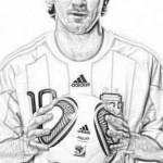 Lionel Messi para colorear