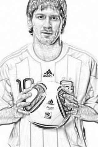 Lionel Messi para colorear | Colorear imágenes