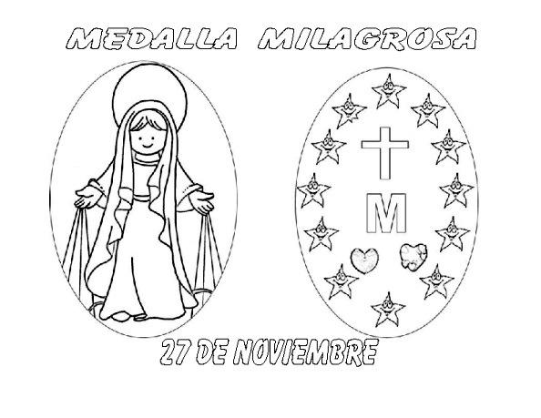 Dibujos De La Vírgen De La Medalla Milagrosa Para