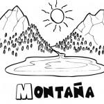 Coloreando paisajes de montañas