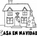 Coloreando casas decoradas para la Navidad