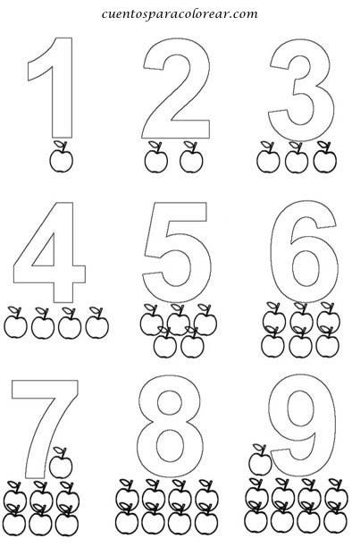 Dibujos De Números Para Colorear Colorear Imágenes
