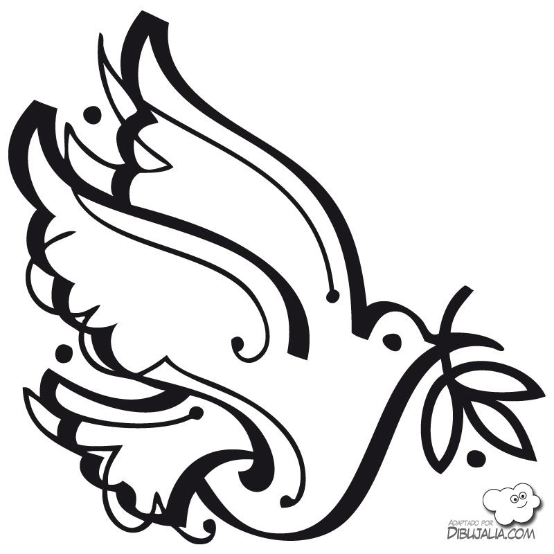 Matrimonio Catolico Para Dibujar : Paloma de la paz para pintar colorear imágenes