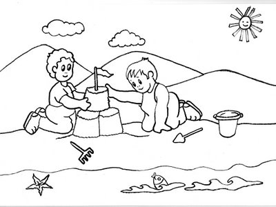 Dibujos De Playa Paisajes De La Costa Para Colorear Pintar El Mar