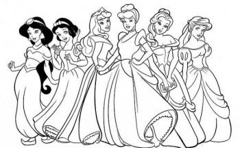 princesa-disney-para-colorear-350x216