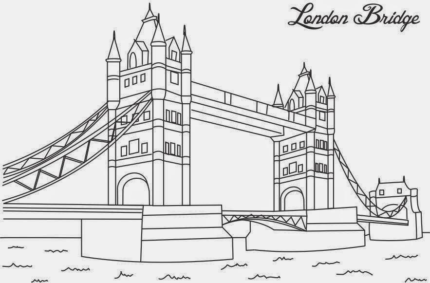 Dibujos de puentes para colorear | Colorear imágenes