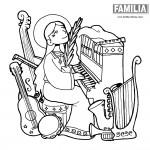 Santa Cecilia – Dibujos de la Patrona de la Música para pintar