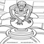 Hombre Araña o Spiderman para pintar
