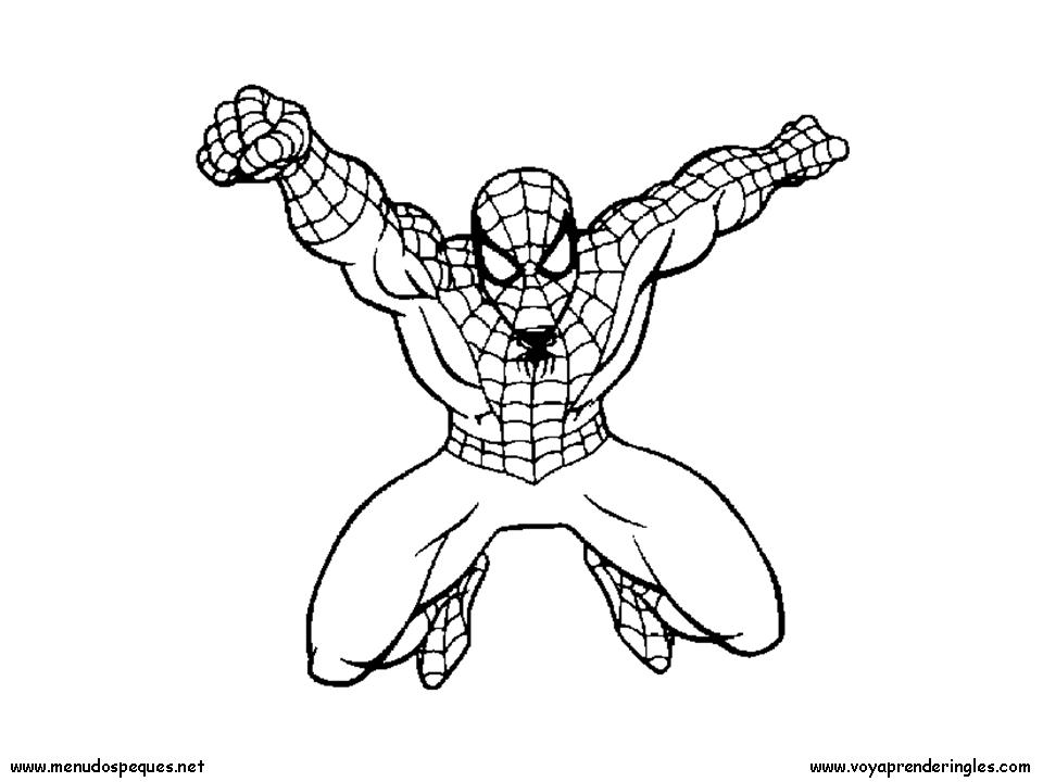Hombre Araña O Spiderman Para Pintar Colorear Imágenes