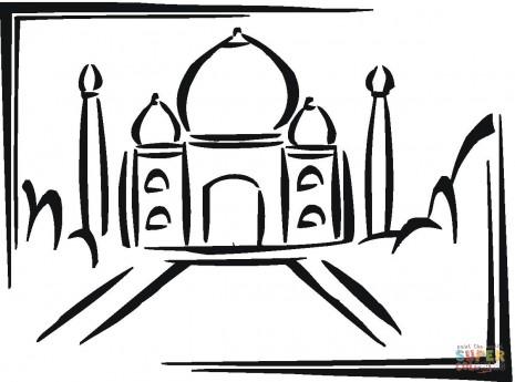 taj-mahal-in-india-coloring-page - copia
