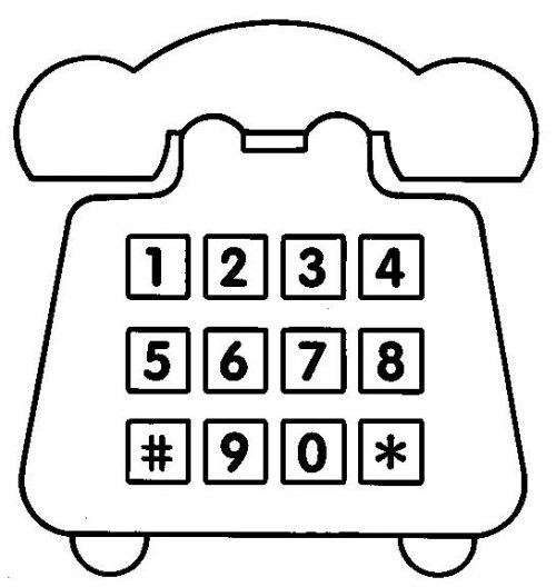 Teléfonos Convencionales Para Pintar Colorear Imágenes