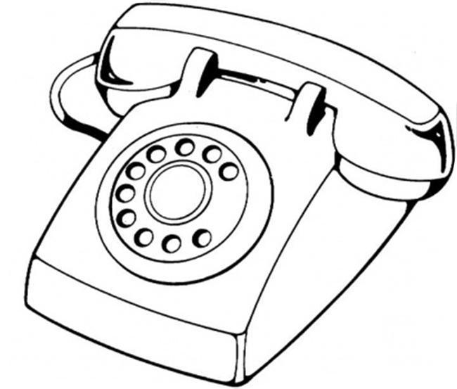 Teléfonos convencionales para pintar | Colorear imágenes