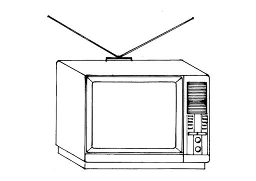 Día De La Televisión Para Pintar Colorear Imágenes