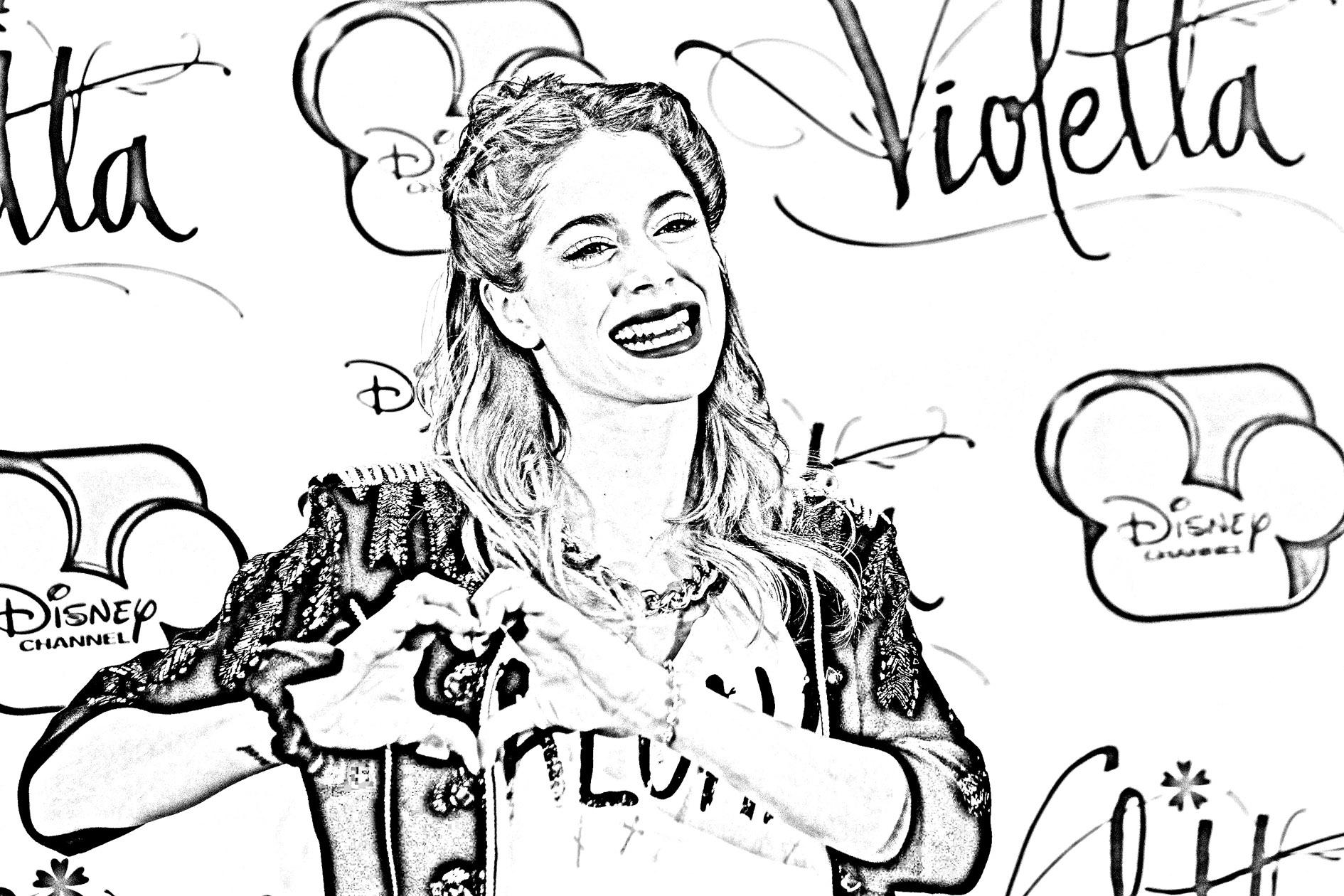 Dibujos Sin Colorear Dibujos De Violetta Disney Para: Dibujos De Violetta Para Pintar