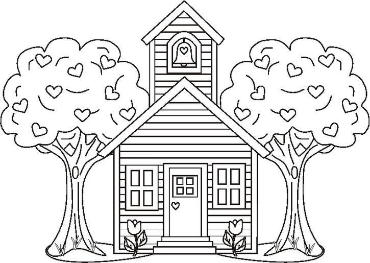 dibujos de iglesias para pintar