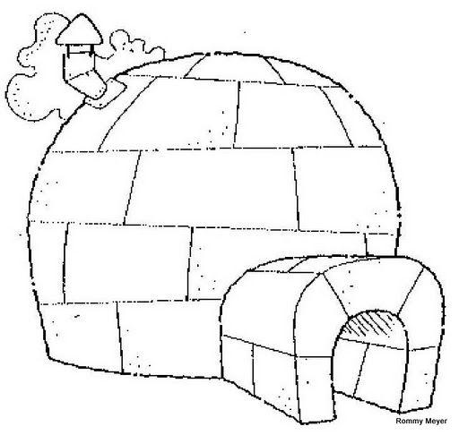 Dibujos de casas de nieve o iglúes para pintar   Colorear imágenes
