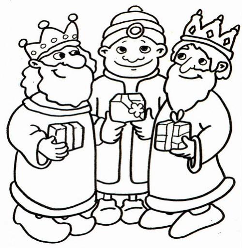 Dibujos De Los Reyes Magos Para Pintar Colorear Imágenes