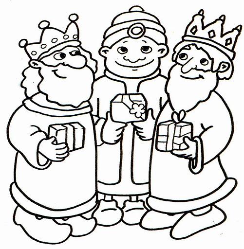 Dibujos de los Reyes Magos para pintar | Colorear imágenes