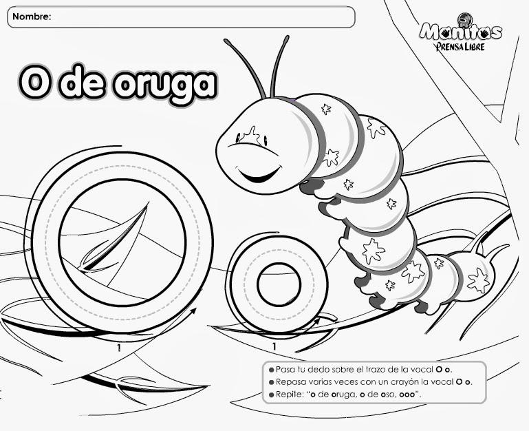 Fichas De Las Vocales Para Imprimir Y Colorear Colorear Imagenes