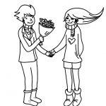 Dibujos de parejas enamoradas para pintar