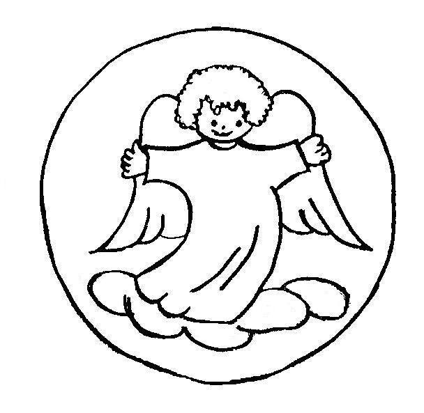 Angelitos Navideños Para Pintar