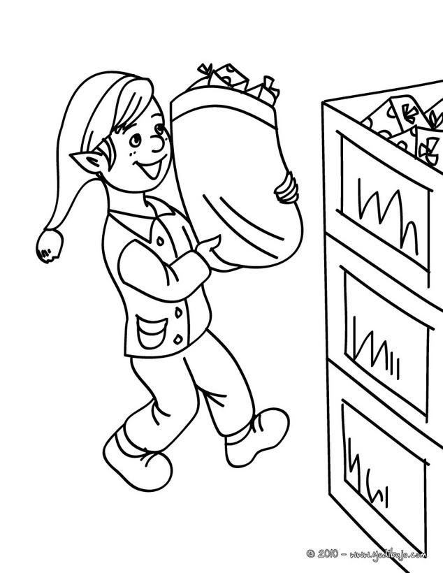 Dibujos de los ayudantes de Papá Noel para pintar | Colorear imágenes