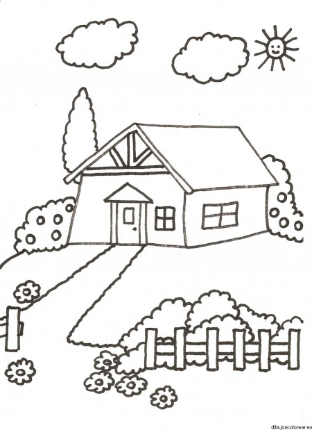 Dibujos de paisajes con casas bonitas para pintar - Fotos de casas para dibujar ...