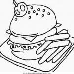 Dibujos de comida rápida para colorear