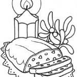 Dibujos de comidad navideñas para colorear