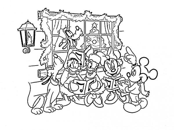 Dibujos para pintar de navidad de disney