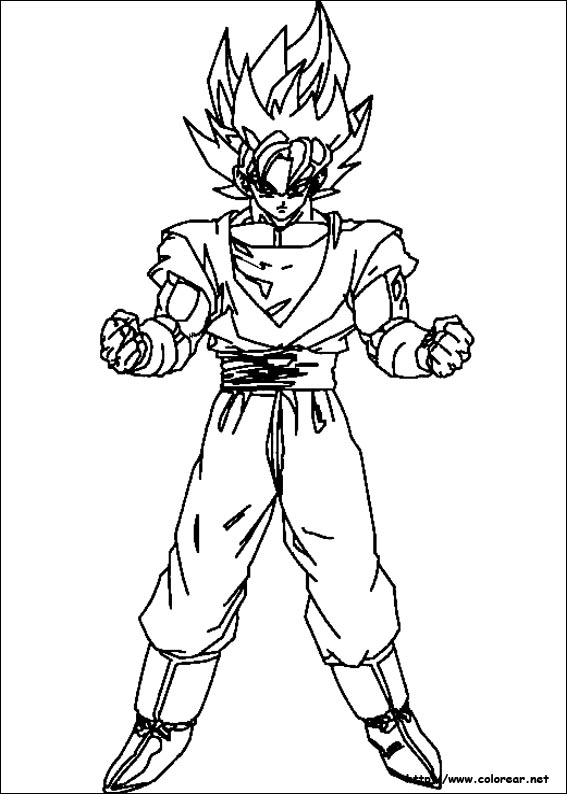 Imagenes Para Colorear De Dragon Ball Z Muy Originales Colorear