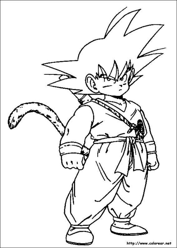 Imágenes Para Colorear De Dragon Ball Z Muy Originales Colorear