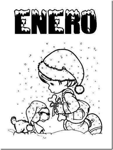 Contemporáneo Hoja Para Colorear De Enero Friso - Ideas Para ...