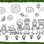 Dibujos de grupos familiares para pintar