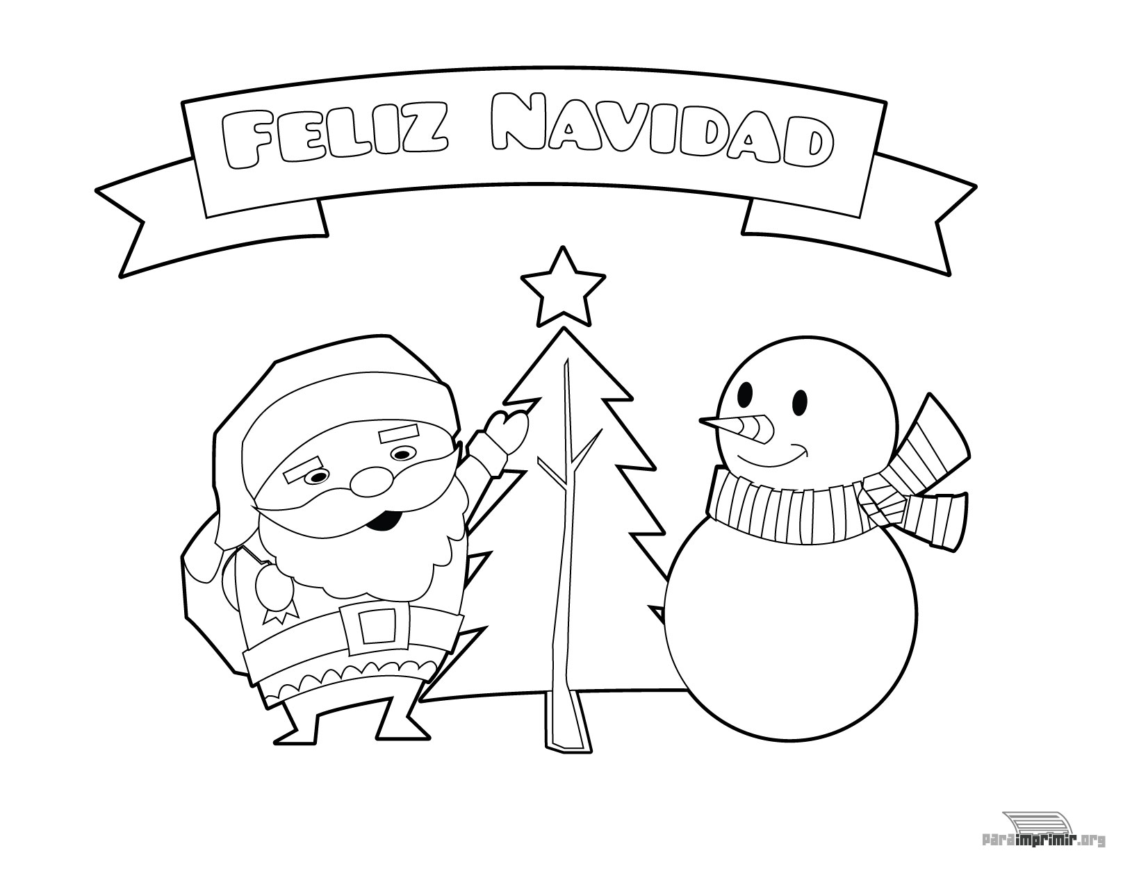 Papá Y Mamá Noel Dibujos Para Imprimir Y Colorear: Manualidades De Navidad Para Imprimir, Pintar Y Recortar