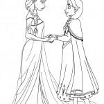 Dibujos de las Princesas de Frozen para pintar