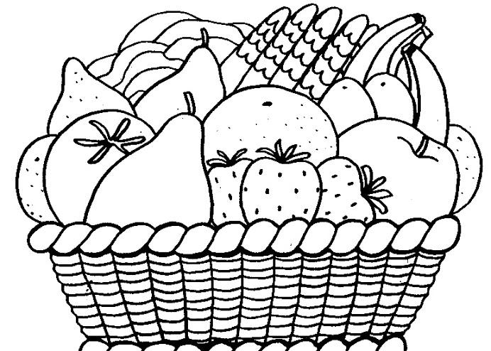 Dibujos De Frutas Para Pintar Colorear Imágenes